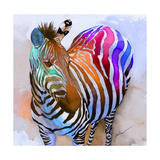 Zebra Dreams Giclée-tryk af Galen Hazelhofer