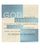 Serenity Prayer III Lmina gicle por Dallas Drotz