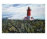 Nauset Beach Lighthouse, Cape Cod Giclee Print by Ed Barbini