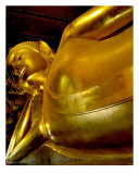 Reclining Buddha Upper Body, Bangkok, Thailand Photographic Print by Kim Digiulio