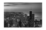 Chicago Aerial North View In BW Photographic Print by Steve Gadomski