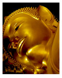 Head of Reclining Buddha, Bangkok, Thailand Photographic Print by Kim Digiulio