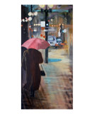 Umbrella Days Giclee Print by Vicki Cole