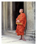Monk at Angkor Wat, Cambodia Photographic Print by Kim Digiulio