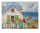 Green Nantucket Shutters Giclee Print by Joyce Hicks