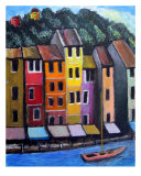 Venice Canal Giclee Print by Michael Forzato