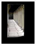 Hallway in Angkor Wat Temple, Cambodia Photographic Print by Kim Digiulio