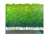 Abstract Green Trees Giclee Print by Patty Baker