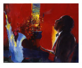 Piano Bar Giclee Print by Max Laigneau