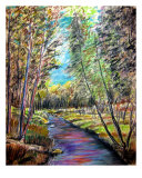 Wandering Creek Giclee Print by Michael Forzato