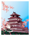 Aizu-Tsurugajo Castle Photographic Print by Julia Bogoeva
