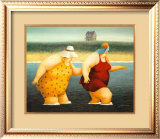 Judy and Marge Poster by Lowell Herrero