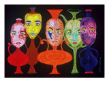 Vases With Faces Giclee Print by Shellton Labron