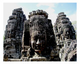 Smiling Buddha at Angkor Thom, Cambodia Photographic Print by Kim Digiulio
