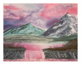 Fuscia Landscape Giclee Print by Emily Downing