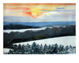 Sunset Giclee Print by Ed Barbini