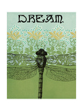 Dream Dragonfly Fotodruck von Ricki Mountain