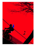 The Red Biker Photographic Print by Jessica Inglis