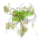 Liquid Green Flower Poster von Jan Weiss