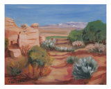 Desert Vista Giclee Print by Alma Sanbern