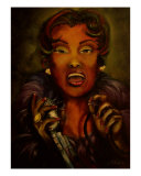 Songstress In Bflat Minor Giclee Print by Anthony Blake