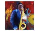 Saxo Blues Giclee Print by Max Laigneau