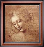 Cabeça de Mulher (La Scapigliata), c.1508 Impressão em tela emoldurada por  Leonardo da Vinci
