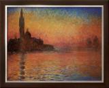 San Giorgio Maggiore by Twilight, c.1908 Poster by Claude Monet