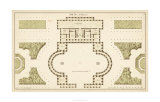 Antique Garden Plan II Limited Edition by  Deneufforge
