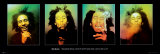 Bob Marley blowend, met Engelse tekst: Excuse Me Posters