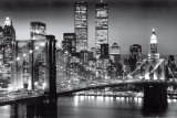 New York, Manhattan in nero, Berenholtz Poster di Richard Berenhotlz