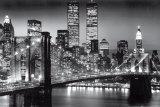 New York, Manhattan in nero, Berenholtz Poster di Richard Berenhotlz