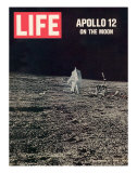 Apollo 12 on the Moon, Astronaut on the Moon, December 12, 1969 Photographic Print