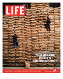 Sacks of Coffee Beans in Colombian Warehouse, January 14, 2005 Photographic Print by Livia Corona