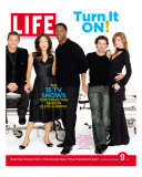 Grey's Anatomy Cast: J. Chambers, S. Oh, I. Washington, P. Dempsey and E. Pompeo, September 9, 2005 Reproduction photographique par Art Streiber