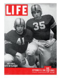 West Point Football Players Glenn Davis and Felix Blanchard, September 16, 1946 Photographic Print by Alfred Eisenstaedt