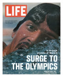 US Swimmer Mark Spitz Training for 1972 Munich Olympics, August 18, 1972 Premium Photographic Print by Co Rentmeester