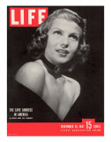 Actress Rita Hayworth, November 10, 1947 Photographic Print by John Florea
