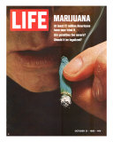 Marijuana, Man with Joint by his Mouth, October 31, 1969 Photographic Print by Co Rentmeester