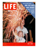 July Fourth Fireworks, July 4, 1955 Photographic Print by Allan Grant