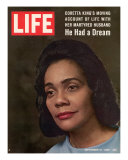 Coretta Scott King, Widow of Civil Rights Leader, September 12, 1969 Photographic Print by Vernon Merritt III