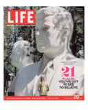 Last LIFE Cover, Busts of JFK and LBJ in Presidents Park, Black Hills, SD, April 20, 2007 Photographic Print by Phillip Toledano