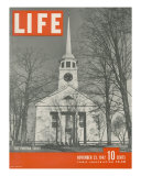 The Puritan Spirit, New England Church, November 23, 1942 Photographic Print by Fritz Goro