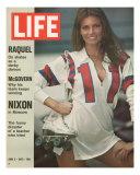 Raquel Welch in Roller Derby Uniform, June 2, 1972 Photographic Print by Bill Eppridge
