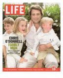 Portrait of Actor Chris O'Donnell and his Three Children at Home, June 16, 2006 Photographic Print by Karina Taira