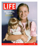 8-year-old Amelia and her American Girl doll Kristen on the cover of LIFE 12-03-2004. Photographic Print by Erin Patrice O'brien