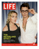 Portrait of Kate Winslet and Johnny Depp, November 19, 2004 Photographic Print by Jason Bell