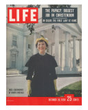 First Lady Mamie Eisenhower Outside the White House, October 20, 1968 Photographic Print by Ed Clark