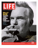 Actor Billy Bob Thornton Smoking a Cigarette, July 22, 2005 Photographic Print by Alexei Hay