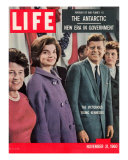 Victorious Young Kennedys, President-elect John Kennedy with Wife and Mother, November 21, 1960 Photographic Print by Paul Schutzer